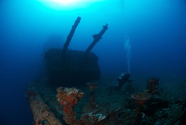 Dentist Chair at Wreck USS Saratoga Bikini Atoll Marshall Islands   Stock  Image