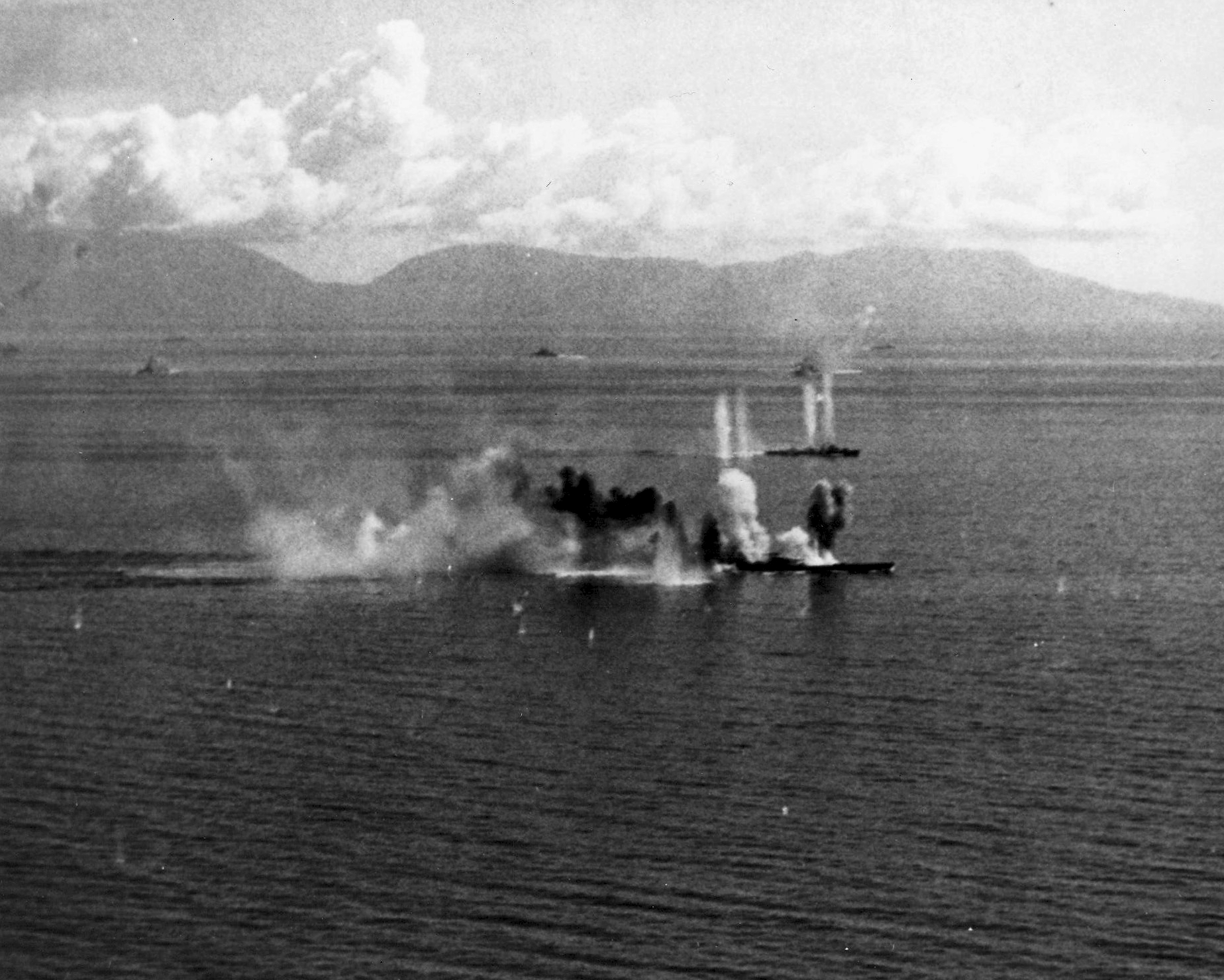 27 November 1944: US Navy battle group under attack from Kamikaze ...