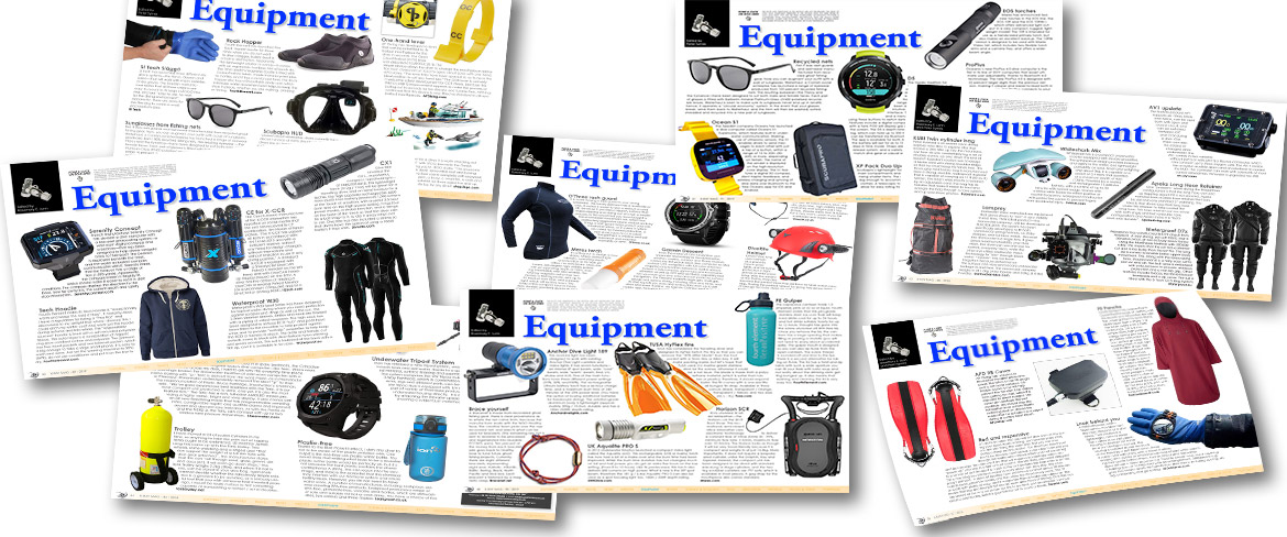 Covers of Equipment pages