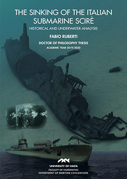 Cover of The Sinking of the Italian Submarine Scirè, written by Dr Fabio Ruberti