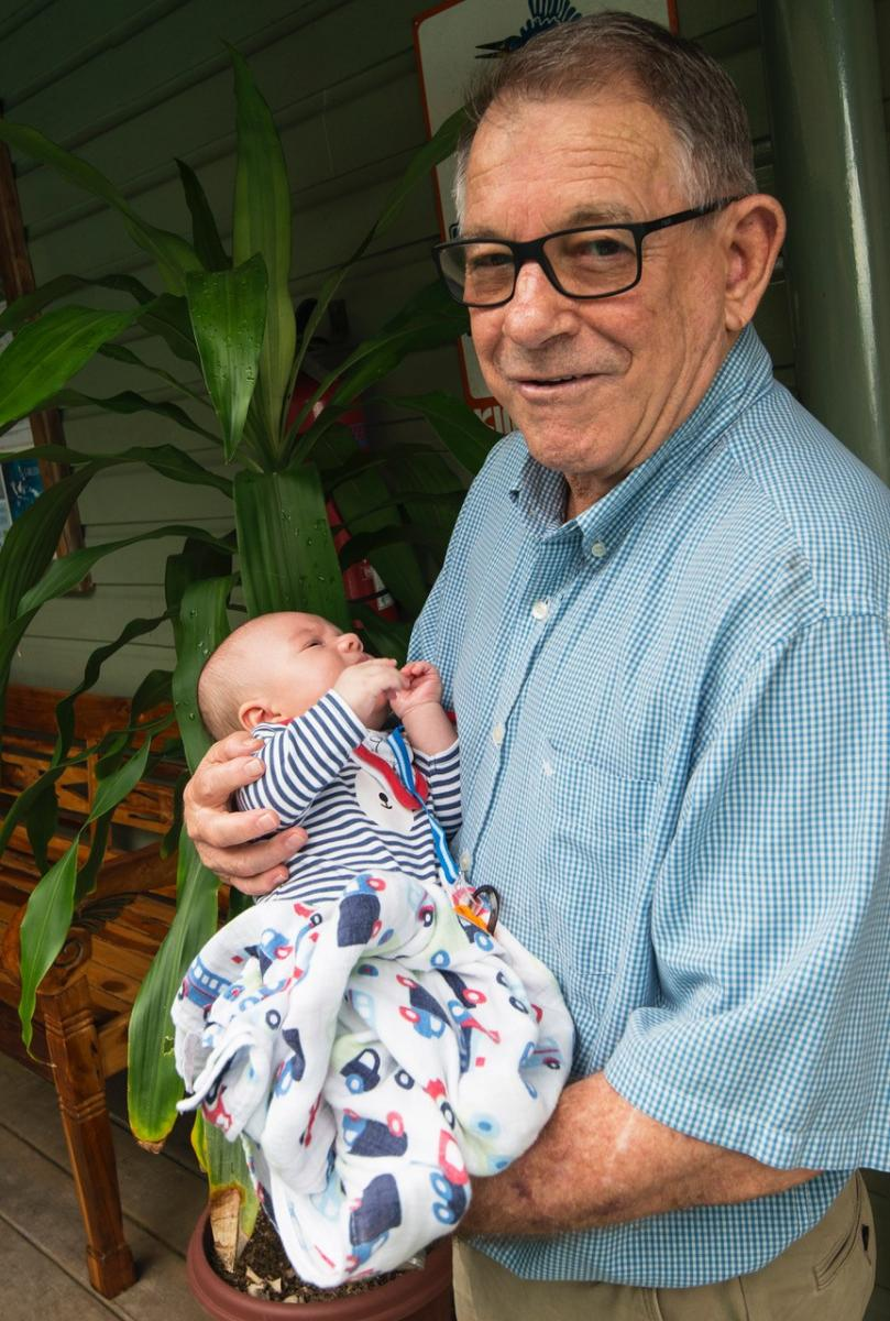 Max with grandson