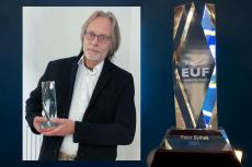 EUF Lavanchy Award is presented to X-Ray Mag founder Peter Symes.